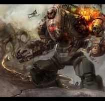 Boss Mech in operation by GeniusFetus
