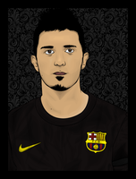 David Villa Vector by murkis8888