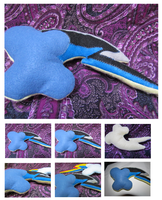 Shadowbolt inspired Rainbow Dash Cutie Mark Plush by buttsnstuff