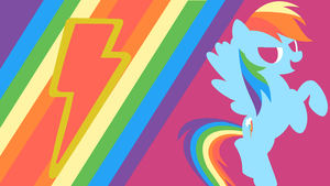 Rainbow Dash's Loyalty Minimalist Wallpaper V2 by Narflarg