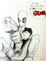 Deadpool ... with a gun by phum0