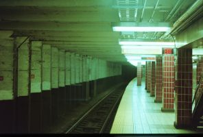 Empty Subway by LeftSideOfRight