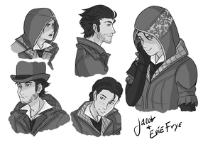 Jacob and Evie Frye by LowRend