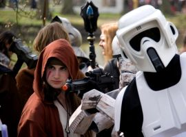 Stormtrooper photobomb by Bloodstained-Snow