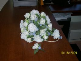 Bouquet + Boutonniere by Joce-in-Stitches