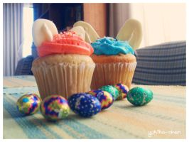 Easter's Cupcakes by rukiko-chan