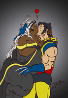 Commission: Storm and Wolverine by Idle-Minded