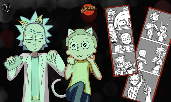 Rick and Morty Photobooth Bundle by plumbagel