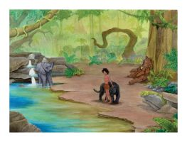 Jungle Book cover by chrisfire1