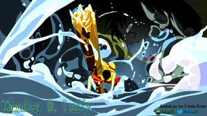 Luffy in Action by DJIvan23