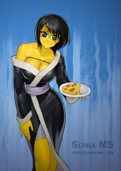 Curry Zombie Shizune by Jokerisdaking