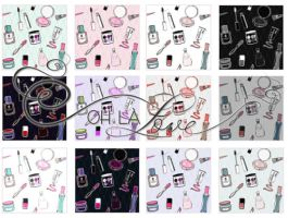 Cosmetics pattern set by ohlalove