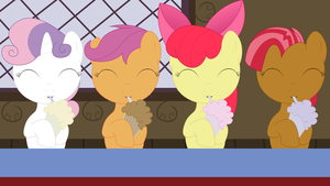 Cutie Mark Crusader Milkshake Drinkers by Amana07