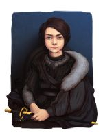 Arya - Game of Thrones meets Famous Paintings by EricaMilhomem