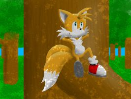 Tails Relaxing in a tree by Ingolme
