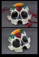 Sugar Skull Mask - Heart by owlspeckles