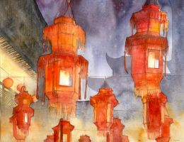 Chinese lanterns by Kot-Filemon