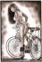 Bicycle and Model Revisit by Ricardofantasyart