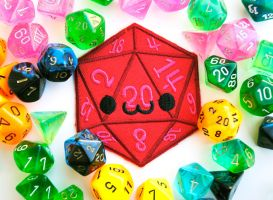 Smiling D20 Patch by brandimillerart