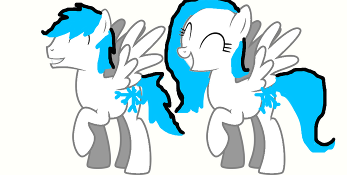 Me as a mare and a colt by FlutterMac4Ever