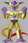 Golden Frieza 1st Form by SilverBuller