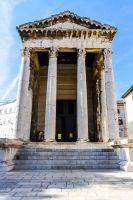 Roman Temple of Augustus by IaiaStock