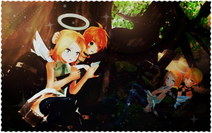MMD - An angel... a Dark Angel... and a Demon... by LinKagamine14358