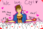 We love Cry! by doctor-cat