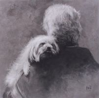 Puppy Love - Charcoal by AstridBruning