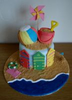 Day at the Beach Cake by sparks1992
