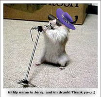 Jerry the weird hamster by LazzyKat