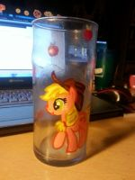 apple jack painting on cup by alekitty86f