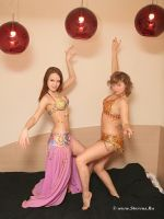 Chantelle and Rozanka - belly dancers 03 by Stervus