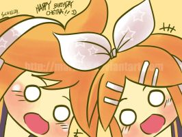 Birthday special: Rin and Len by MARKCW