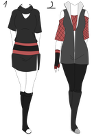 Naruto Outfit aution adoptable batch 2 (OPEN) by Y-uno