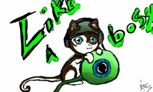 Jacksepticeye Kitty Cat~ (He's such a BOSS!) by LittleEmers27