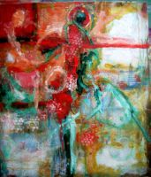 # 15 An Evening At The Theater 23x27 Mixed Media A by moredragons