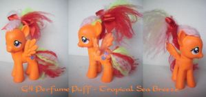 My little Pony Custom G4 Perfume Puff Sea Breeze by BerryMouse