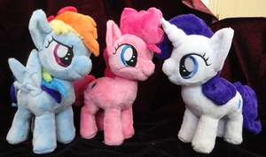 Rainbow Dash, Pinkie Pie, and Rarity fillies! by Cryptic-Enigma