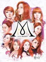 Nine Muses drawing by RyohanaML
