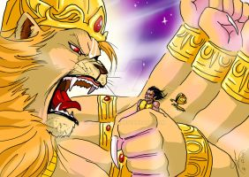 Narasimha catches Hiranyakasipu by nairarun15