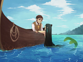 the mermaid and his boy by caephuier