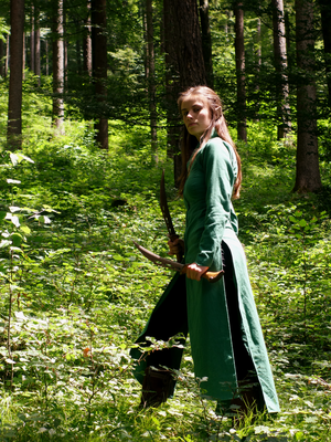 In the Woods (Tauriel Cosplay) by LadyWolf009