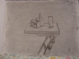 Charcoal Still Life by voodoochild84