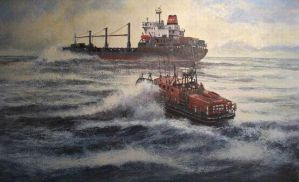 MV American Tern RNLI Lowestoft by johnstevensartist