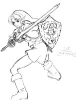 Link of Hyrule +pencil+ by X-satsuki-X
