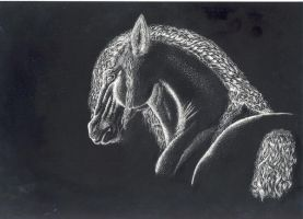 Horse Scratch Art by Laserbot
