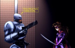 ROBOCOP AND HIT-GIRL by B9TRIBECA