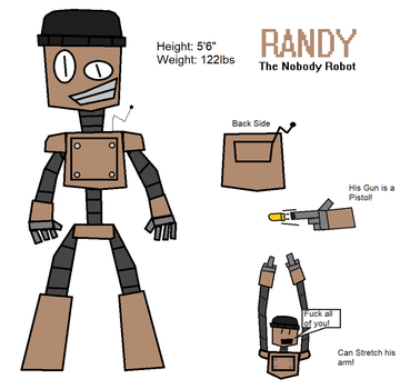 Randy The Nobody Robot Ref Sheet by jaggerberix