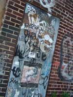 graffiti door by joshuanieves